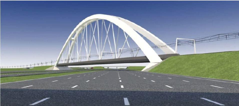Nieuwebrug in 2016 over A1 bij Muiderberg